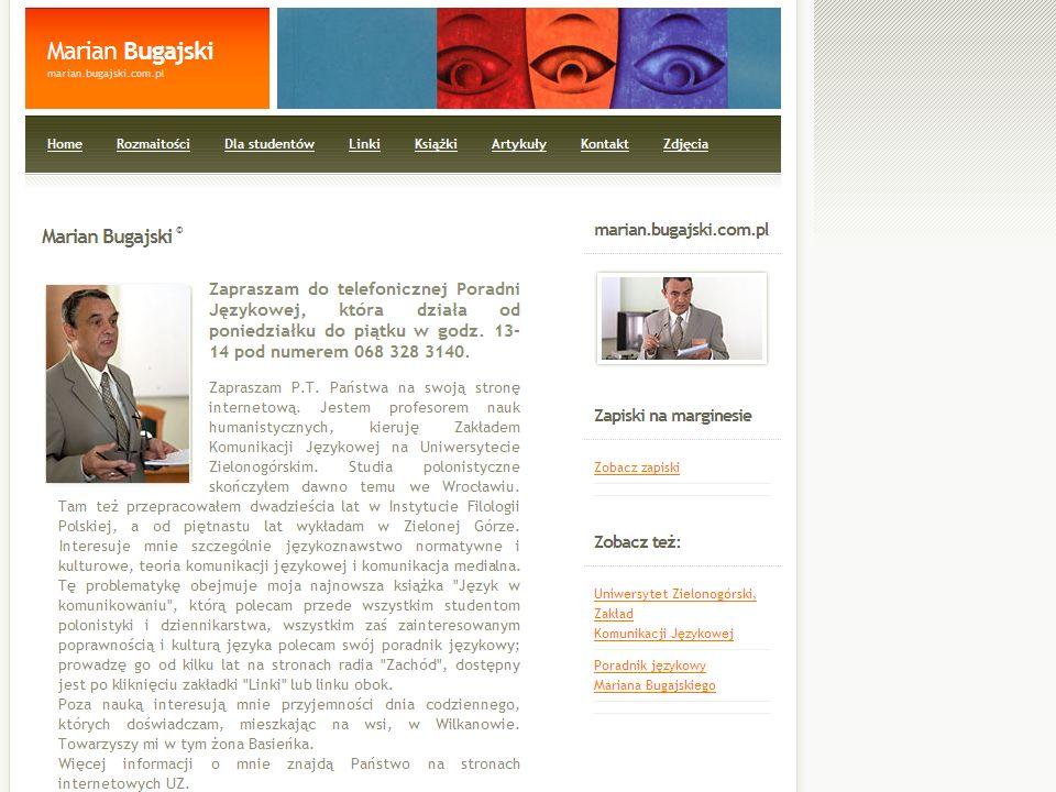 Świadomość językowa współczesnych Polaków Na podstawie internetowego Poradnika językowego Mariana Bugajskiego