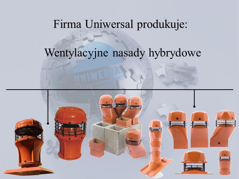 Wentylacyjne nasady hybrydowe Firma Uniwersal produkuje: