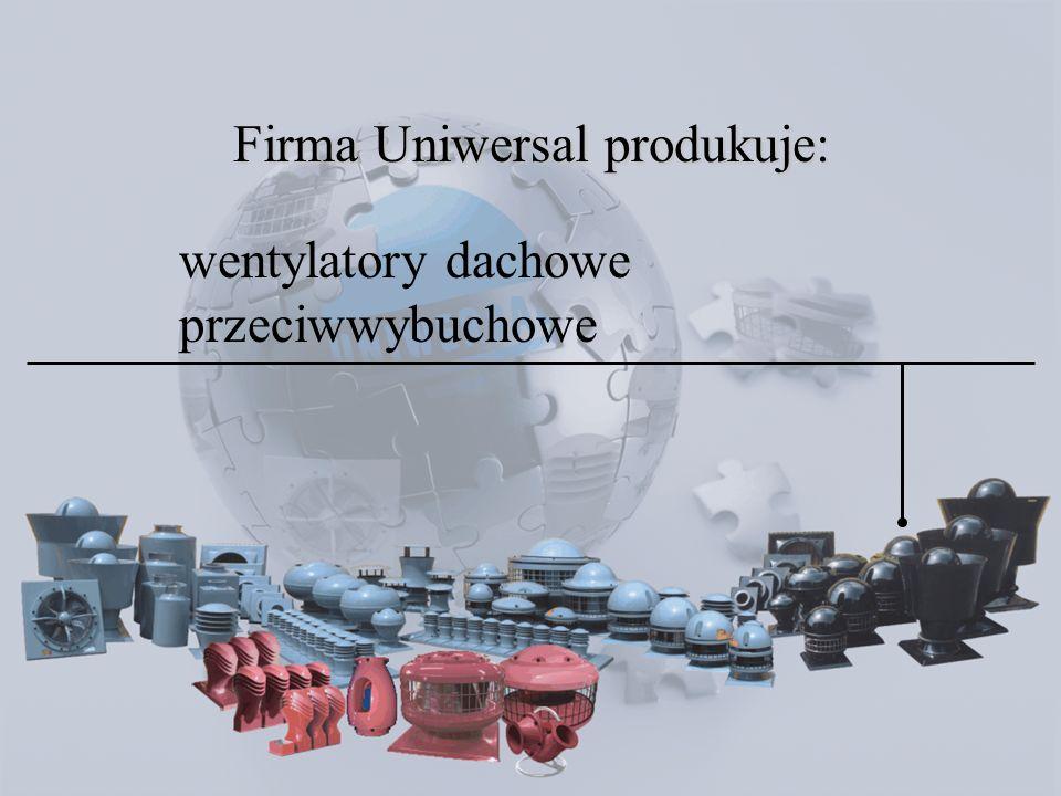 wentylatory osiowe Firma Uniwersal produkuje: