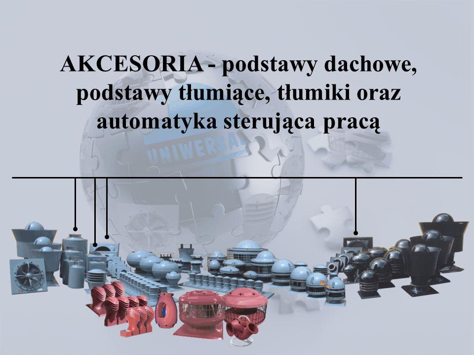 Akcesoria AKCESORIA - podstawy dachowe, podstawy tłumiące, tłumiki oraz automatyka sterująca pracą