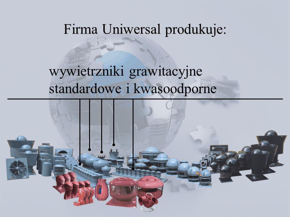 wywietrzniki grawitacyjne przeciwwybuchowe Firma Uniwersal produkuje: