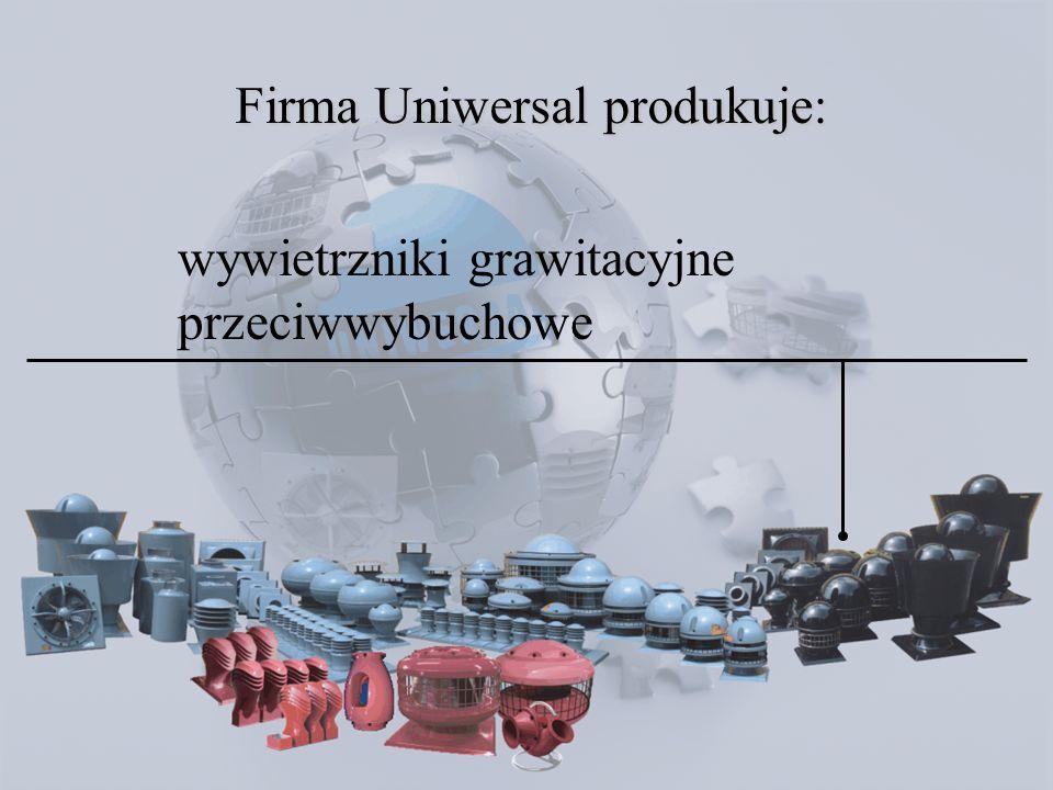 wentylatory dachowe przeciwwybuchowe DAEx www.uniwersal.com.pl Wentylatory dachowe typu DAEx wykonywane są ze specjalnego kompozytu poliestrowego zbrojonego włóknem szklanym z domieszką substancji pozwalających uzyskać niski poziom rezystancji elektrycznej tworzywa, oraz tym samym zapewnić właściwą upłynność ładunku elektrostatycznego.