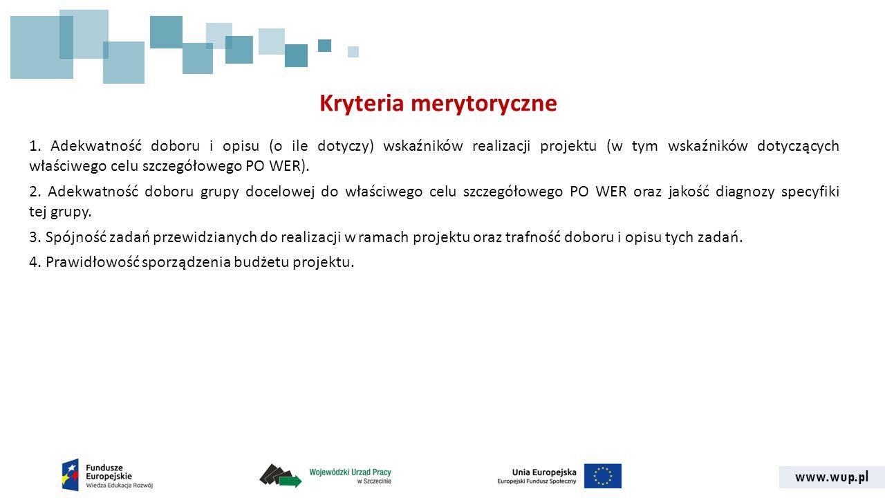 www.wup.pl Kryteria merytoryczne 1.