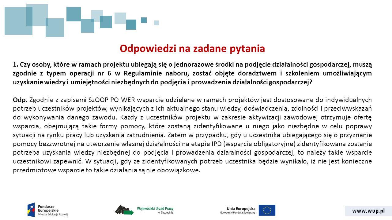 www.wup.pl Odpowiedzi na zadane pytania 1.