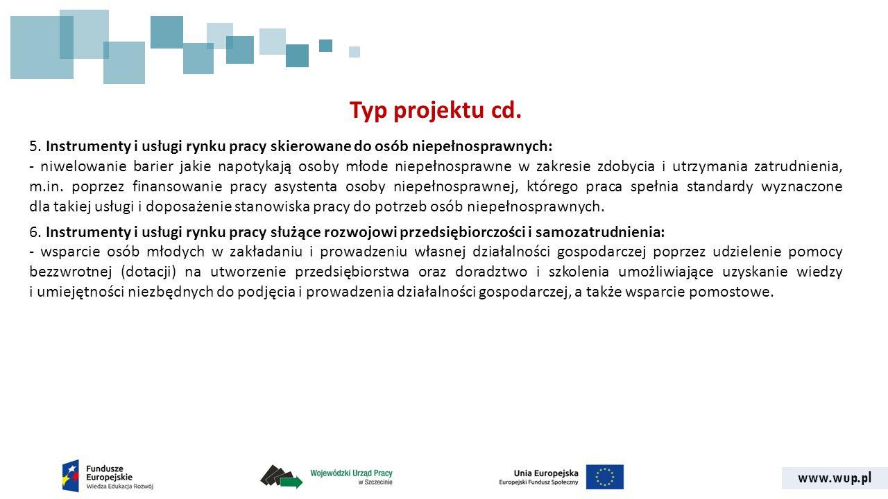 www.wup.pl Typ projektu cd. 5.