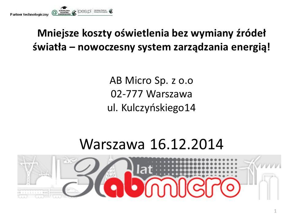 Mniejsze koszty oświetlenia bez wymiany źródeł światła – nowoczesny system zarządzania energią.