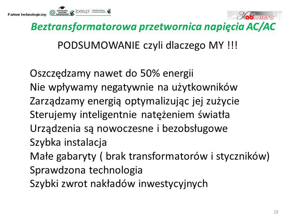28 Beztransformatorowa przetwornica napięcia AC/AC PODSUMOWANIE czyli dlaczego MY !!.