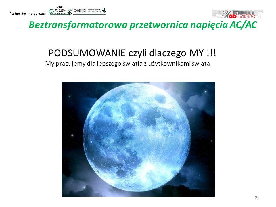 29 Beztransformatorowa przetwornica napięcia AC/AC PODSUMOWANIE czyli dlaczego MY !!.