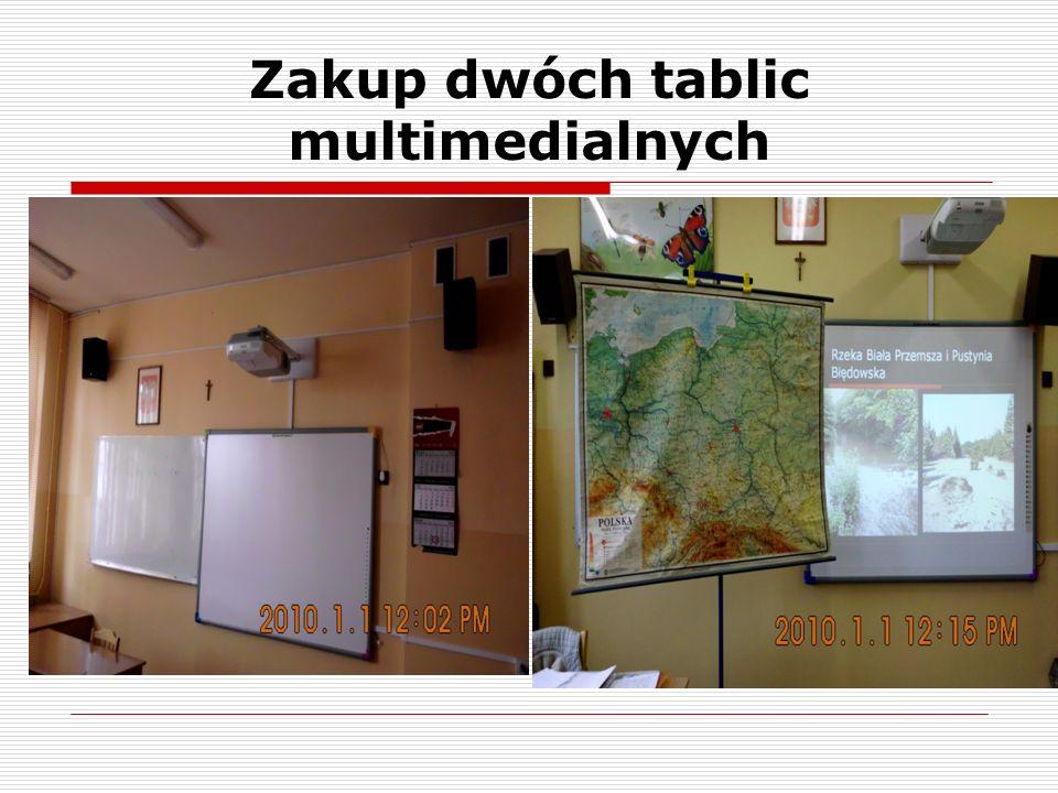 Zakup dwóch tablic multimedialnych