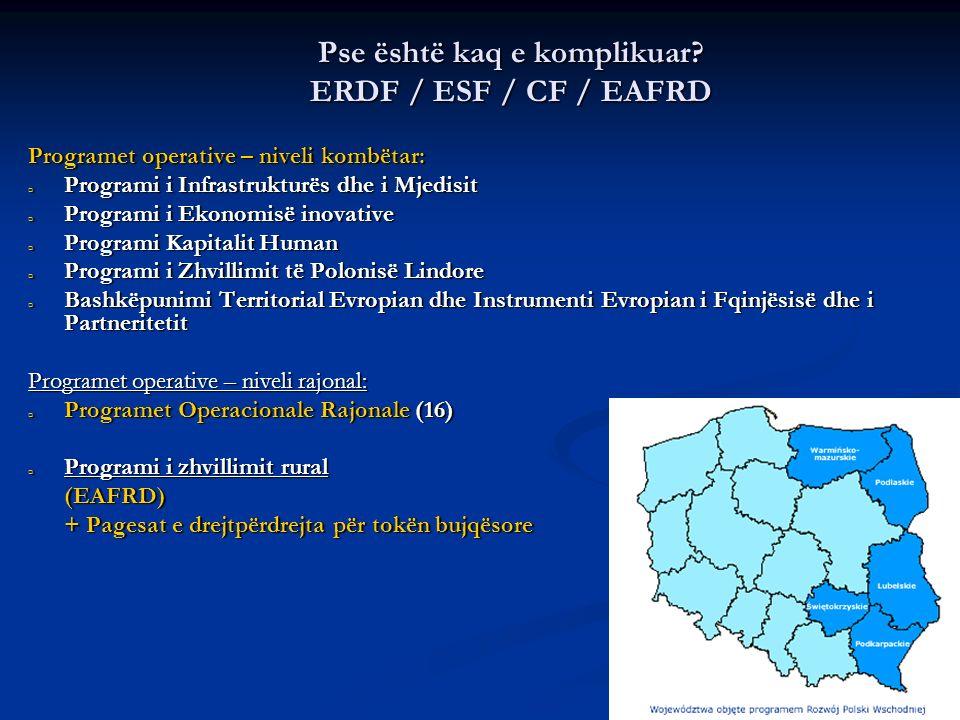 8 Sistemi i institucioneve të fondeve të BE-së në Poloni Menaxhimi – Autoritetet menaxhuese Menaxhimi – Autoritetet menaxhuese Zbatimi – Autoritetet zbatuese & Zbatimi – Autoritetet zbatuese & Organet e ndërmjetësimit Organet e ndërmjetësimit Koordinimi – Autoritetet Kordinuese dhe Monitoruese Koordinimi – Autoritetet Kordinuese dhe Monitoruese Autoritetet çertifikuese dhe Autoriteti i Auditimit - pjesëmarrja në fazat e ndryshme të punëve dhe kontrollet komplekse.