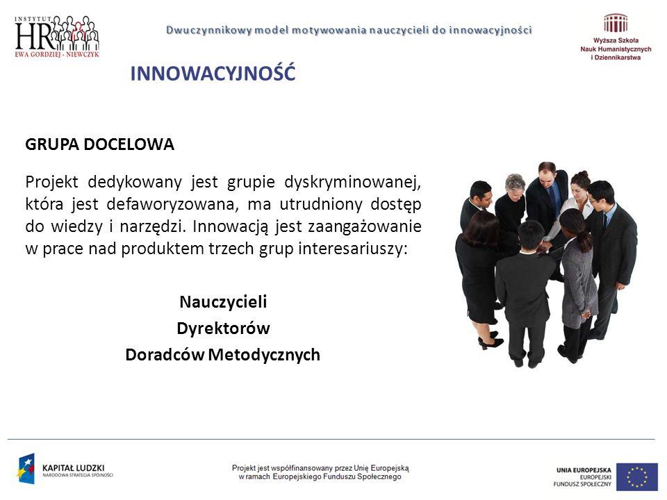 GRUPA DOCELOWA Projekt dedykowany jest grupie dyskryminowanej, która jest defaworyzowana, ma utrudniony dostęp do wiedzy i narzędzi.