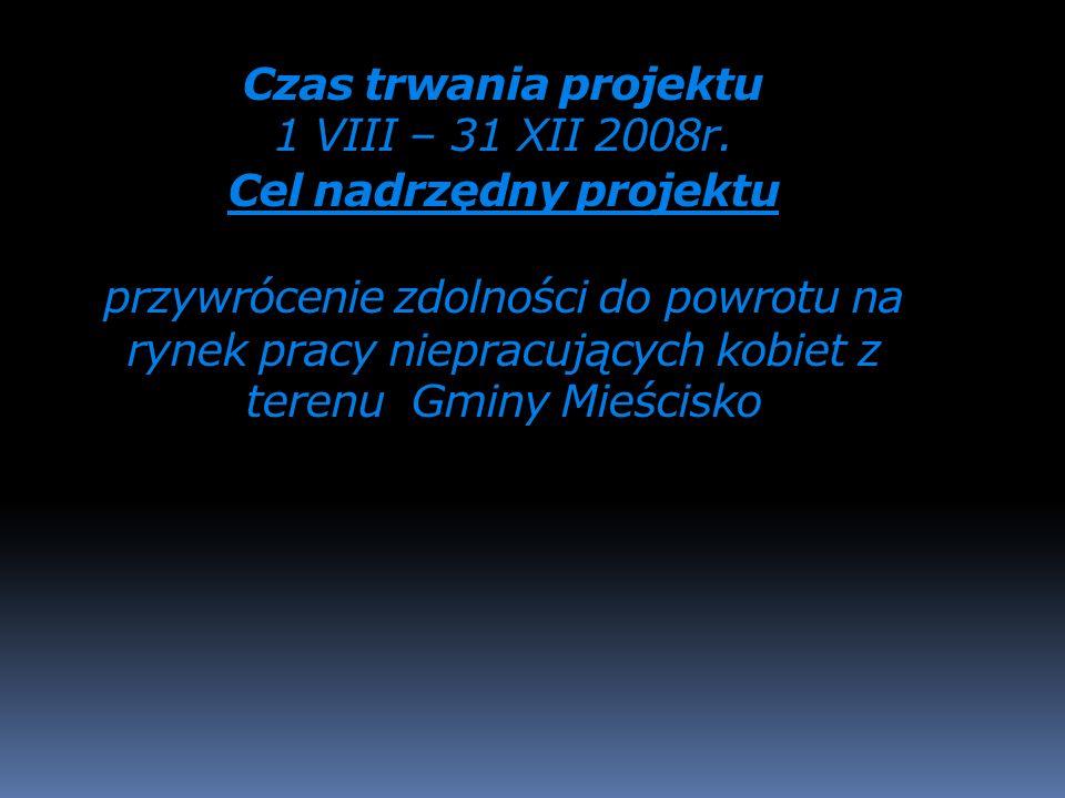 Wartość projektu w 2008 roku wyniosła 44.170,00 złotych, w tym 39.532,15 złotych dofinansowanie przez Unię Europejską natomiast 4.637,85 złotych było wkładem własnym budżetu Gminy Mieścisko ( wymagane 10,50%).