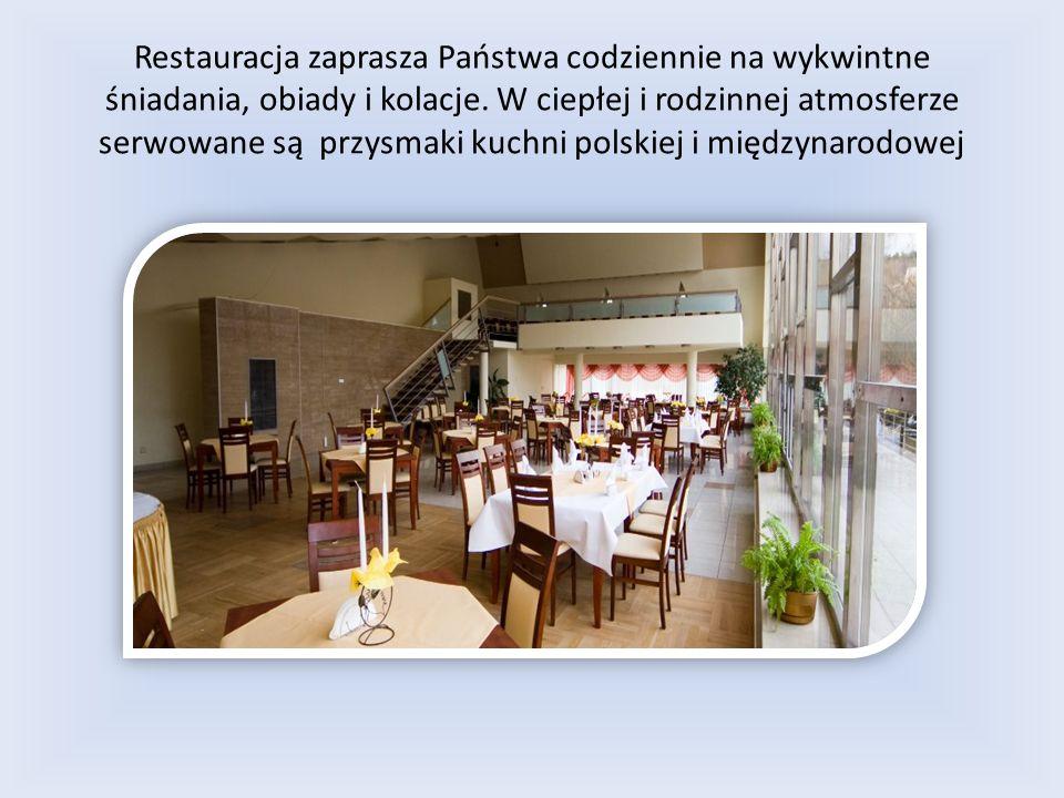 Restauracja zaprasza Państwa codziennie na wykwintne śniadania, obiady i kolacje.