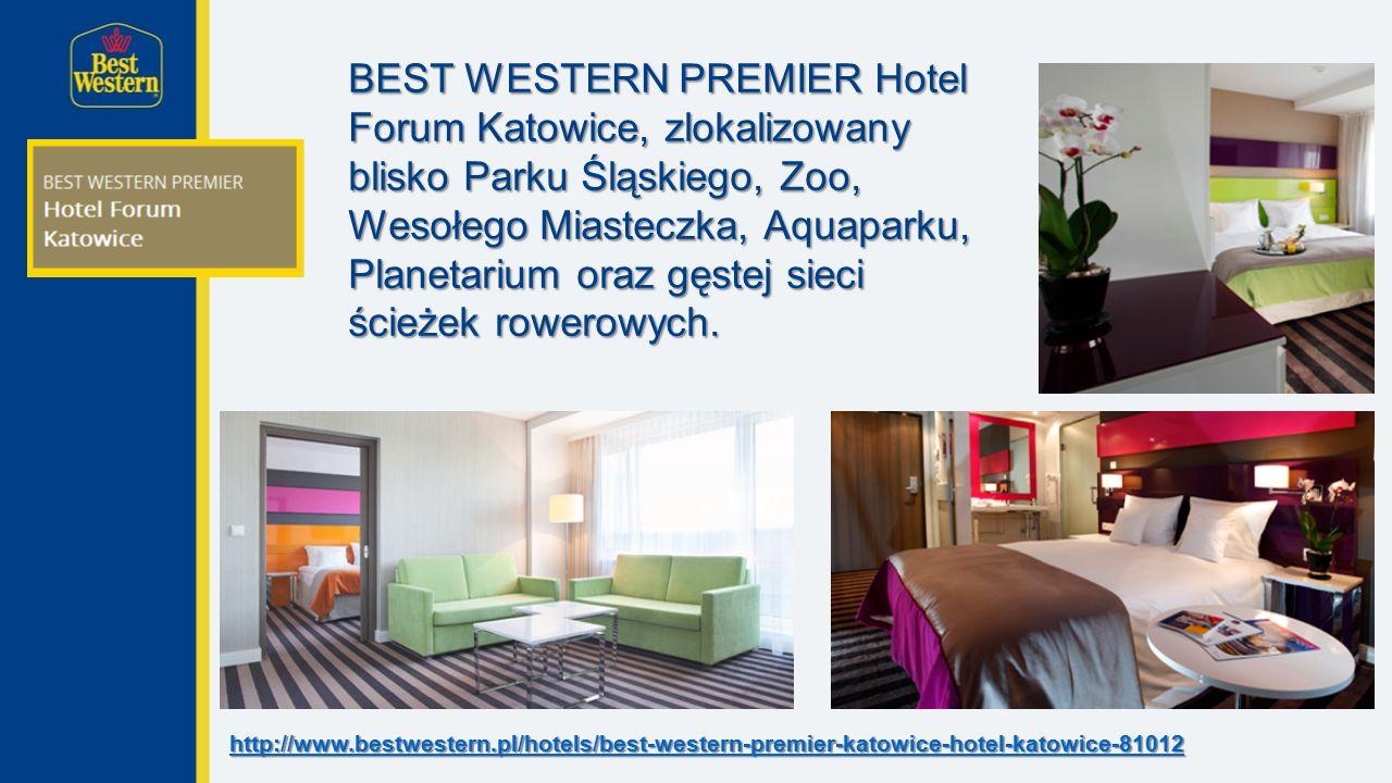 BEST WESTERN PREMIER Hotel Forum Katowice, zlokalizowany blisko Parku Śląskiego, Zoo, Wesołego Miasteczka, Aquaparku, Planetarium oraz gęstej sieci ścieżek rowerowych.