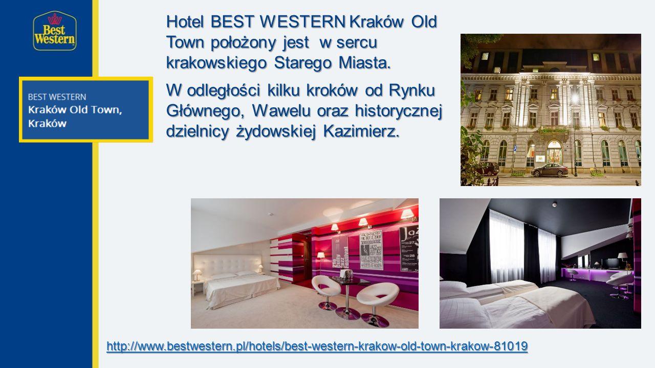 Hotel BEST WESTERN Kraków Old Town położony jest w sercu krakowskiego Starego Miasta.