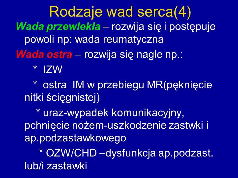 Zjawiska osłuchowe i cechy kliniczne w niedomykalności zastawki trójdzielnej Osłuchowo: Szmer skurczowy w IV-V międzyżebrzu przy mostku promieniujący w dół i na lewo Nasila się na szczycie wdechu (objaw Rivera i Carvalla) Cechy kliniczne niedomykalności trójdzielnej : Tętnienie żył szyjnych Powiększona tętniąca wątroba (dodatnie tętno żylne) Obrzęki obwodowe