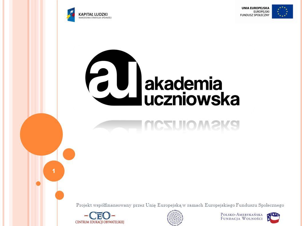 Projekt współfinansowany przez Unię Europejską w ramach Europejskiego Funduszu Społecznego 1