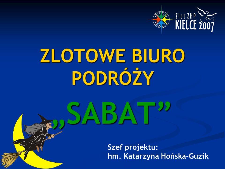 """ZLOTOWE BIURO PODRÓŻY """"SABAT Szef projektu: hm. Katarzyna Hońska-Guzik"""