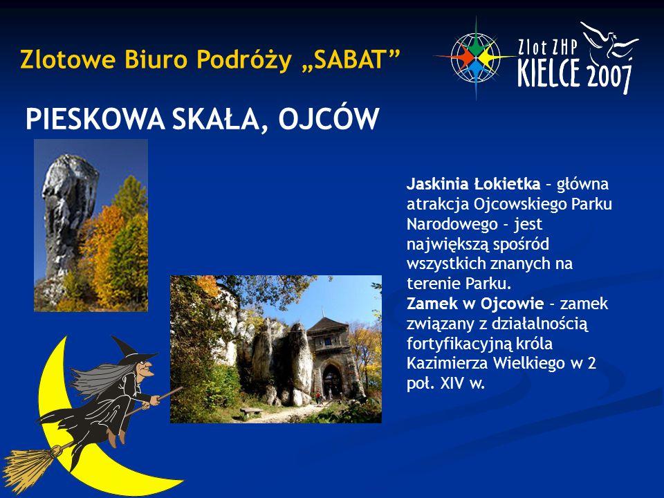 """Zlotowe Biuro Podróży """"SABAT"""" PIESKOWA SKAŁA, OJCÓW Jaskinia Łokietka – główna atrakcja Ojcowskiego Parku Narodowego - jest największą spośród wszystk"""