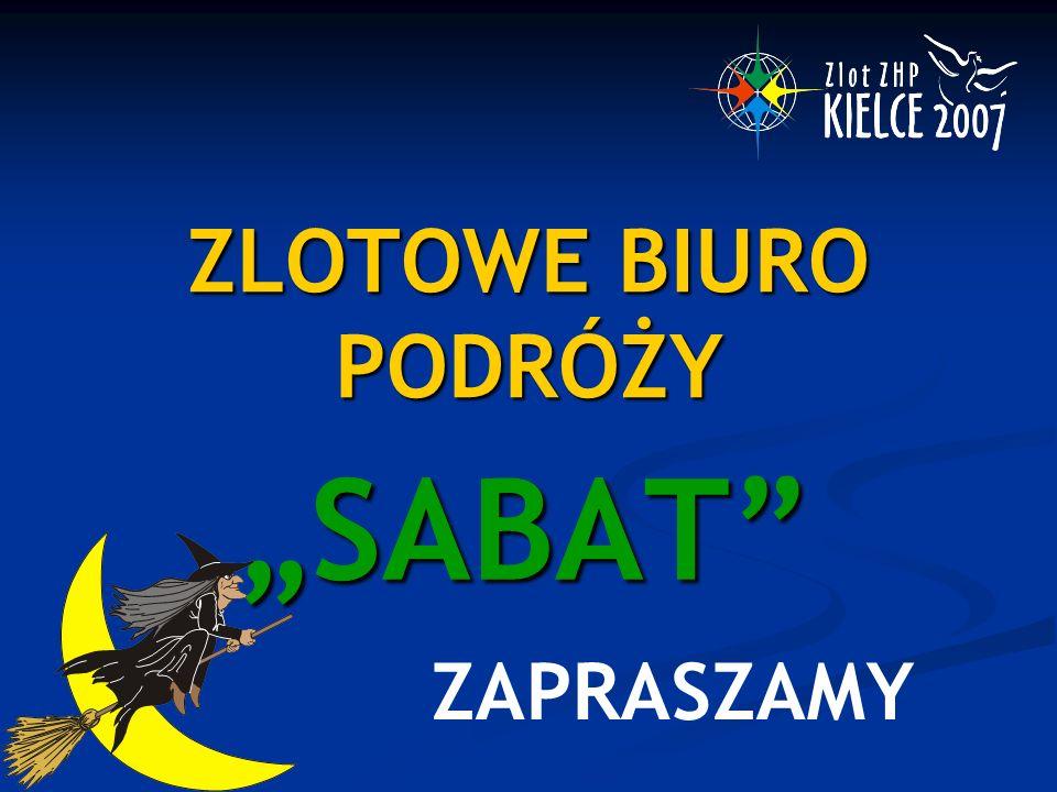 """ZLOTOWE BIURO PODRÓŻY """"SABAT"""" ZAPRASZAMY"""