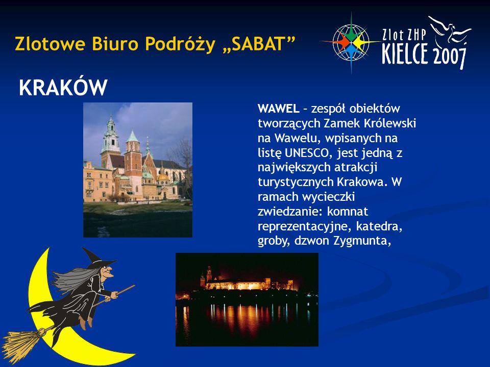"""Zlotowe Biuro Podróży """"SABAT KRAKÓW WAWEL – zespół obiektów tworzących Zamek Królewski na Wawelu, wpisanych na listę UNESCO, jest jedną z największych atrakcji turystycznych Krakowa."""