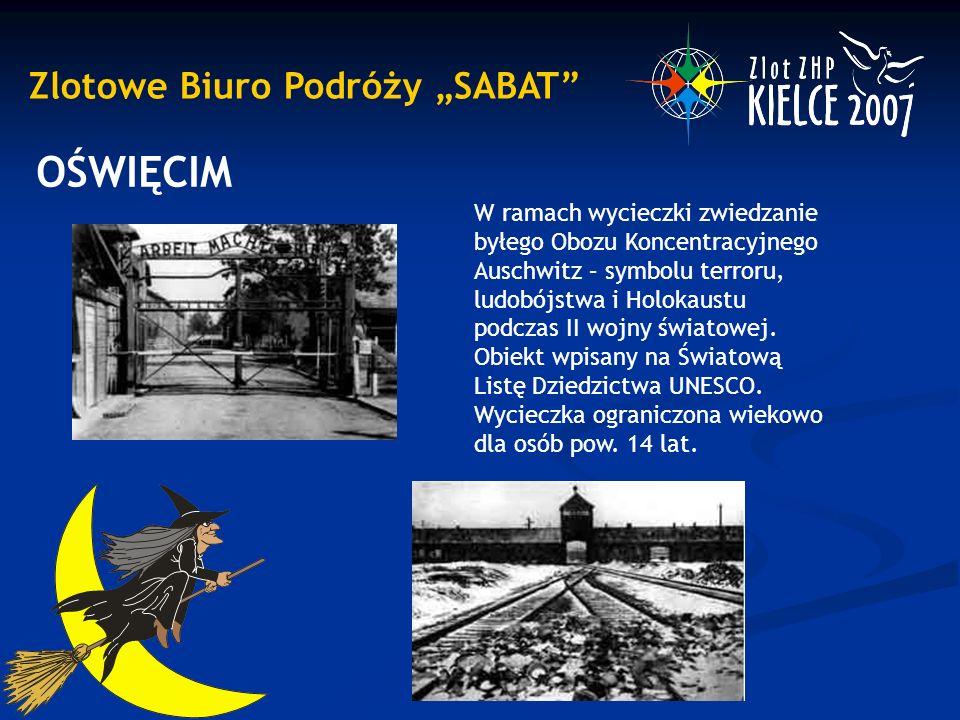 """Zlotowe Biuro Podróży """"SABAT OŚWIĘCIM W ramach wycieczki zwiedzanie byłego Obozu Koncentracyjnego Auschwitz – symbolu terroru, ludobójstwa i Holokaustu podczas II wojny światowej."""