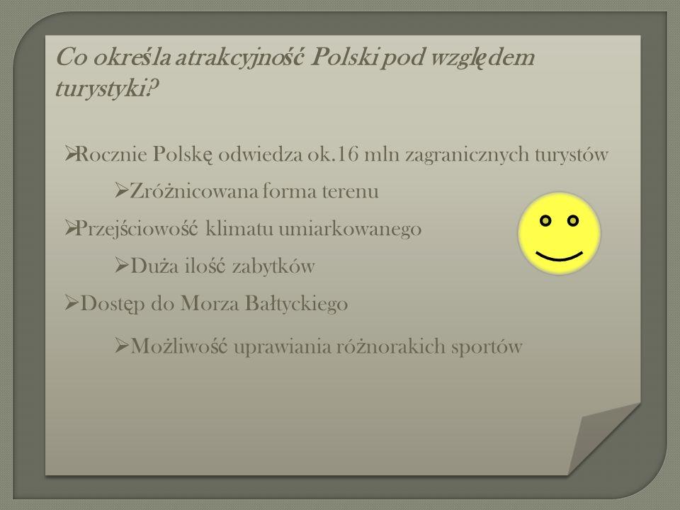 Co okre ś la atrakcyjno ść Polski pod wzgl ę dem turystyki.