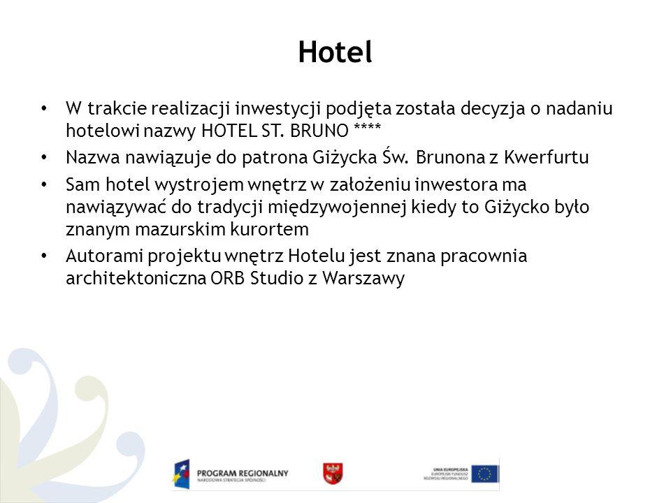Hotel W trakcie realizacji inwestycji podjęta została decyzja o nadaniu hotelowi nazwy HOTEL ST.