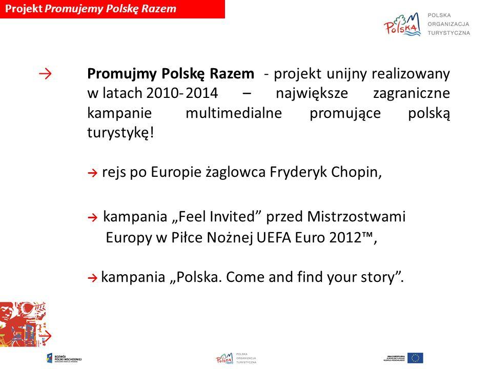 Projekt Promujemy Polskę Razem → Promujmy Polskę Razem - projekt unijny realizowany w latach 2010-2014 – największe zagraniczne kampanie multimedialne