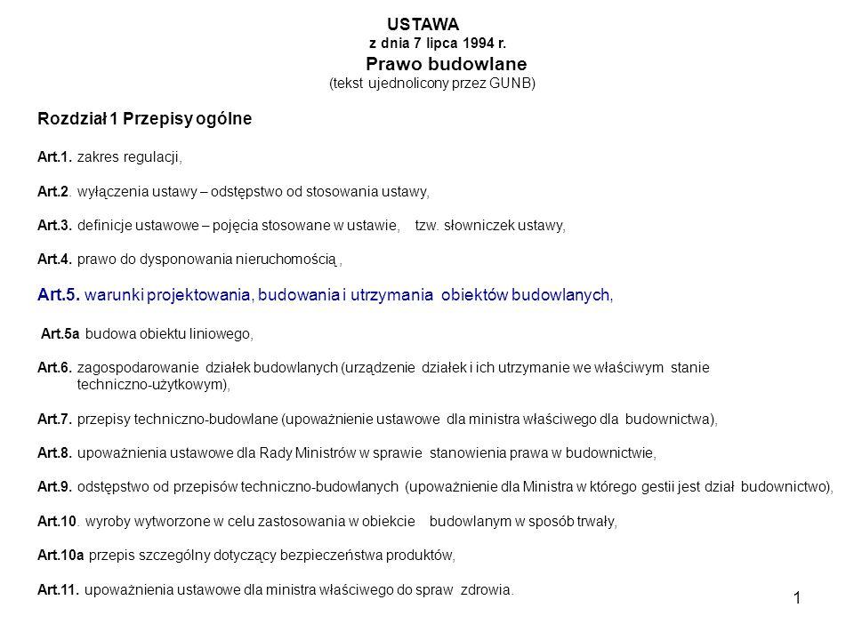 12 Rozdział 10 Odpowiedzialność zawodowa w budownictwie Art.95.