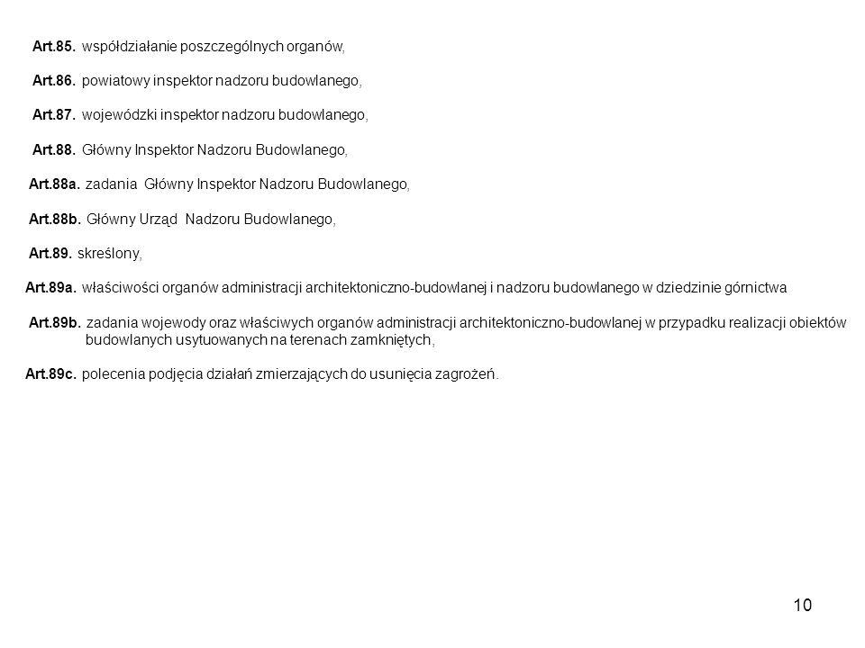 10 Art.85. współdziałanie poszczególnych organów, Art.86.