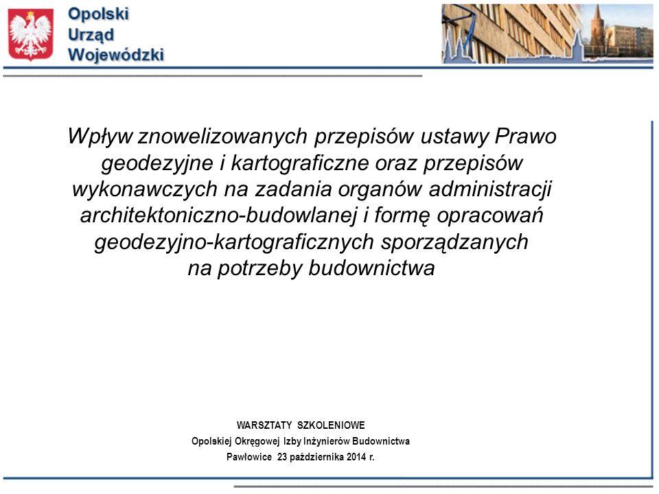Rozporządzenie w sprawie standardów technicznych … Wyznaczanie obiektów budowlanych w terenie § 55.