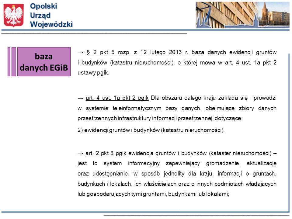 baza danych EGiB → § 2 pkt 5 rozp. z 12 lutego 2013 r.