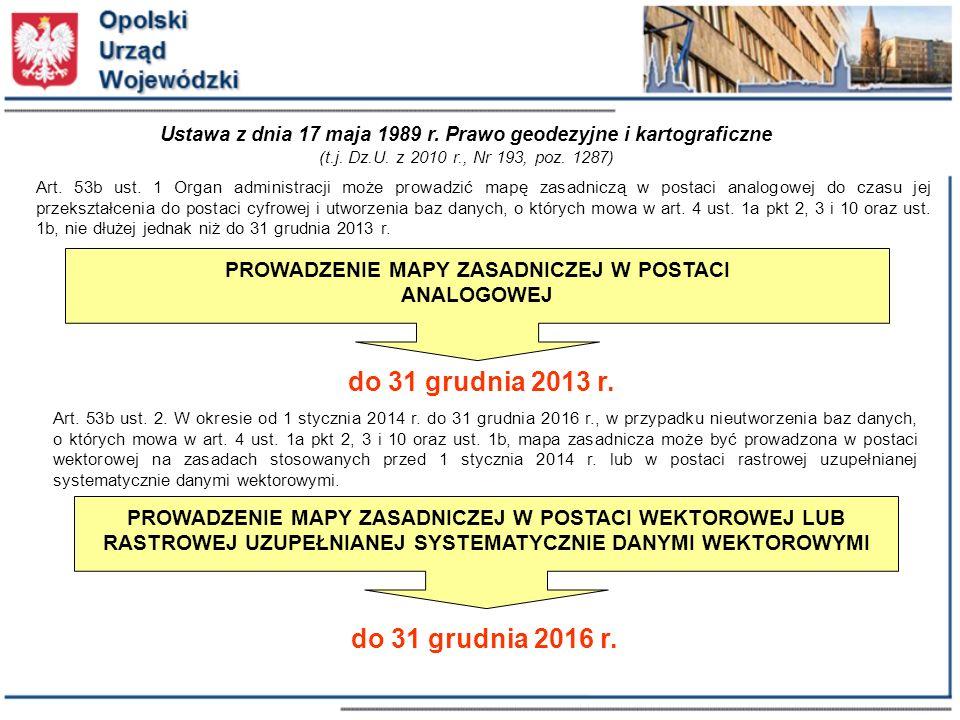 Ustawa z dnia 17 maja 1989 r. Prawo geodezyjne i kartograficzne (t.j.