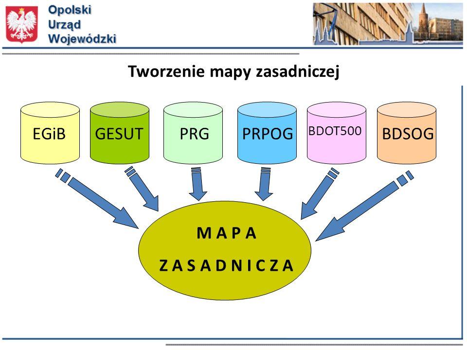 EGiBGESUTBDSOG BDOT500 PRPOGPRG M A P A Z A S A D N I C Z A Tworzenie mapy zasadniczej