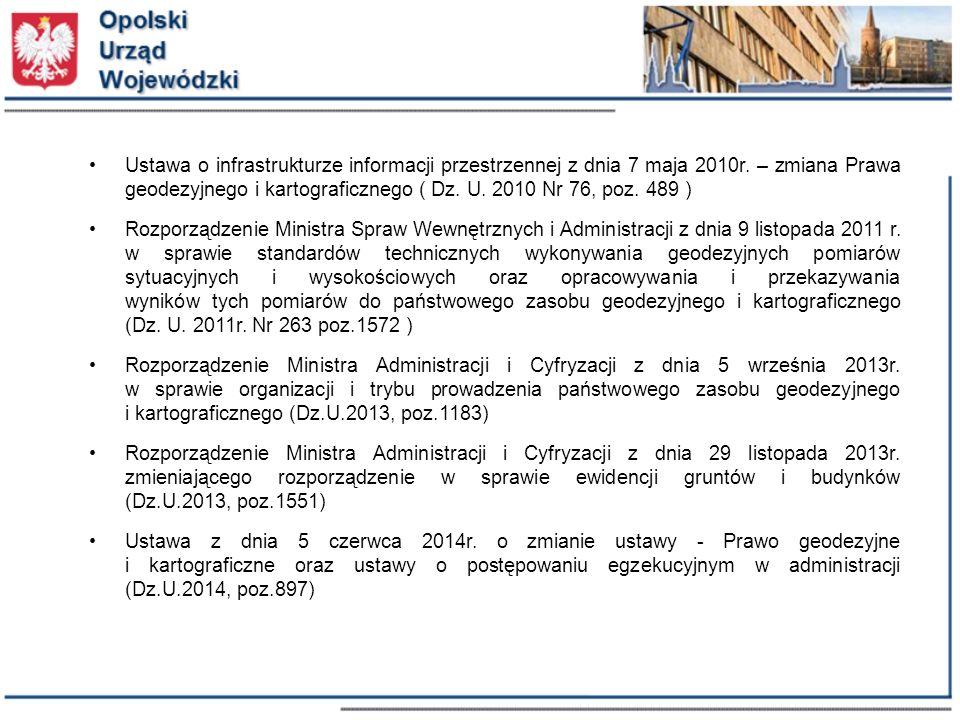 Ustawa o infrastrukturze informacji przestrzennej z dnia 7 maja 2010r.