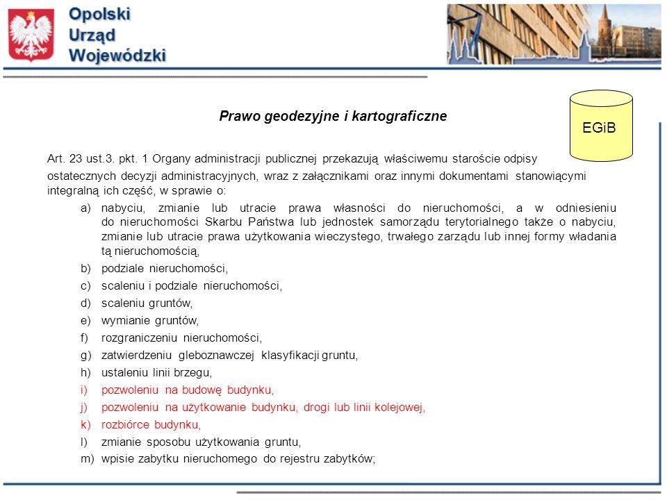 Prawo geodezyjne i kartograficzne Art. 23 ust.3. pkt.