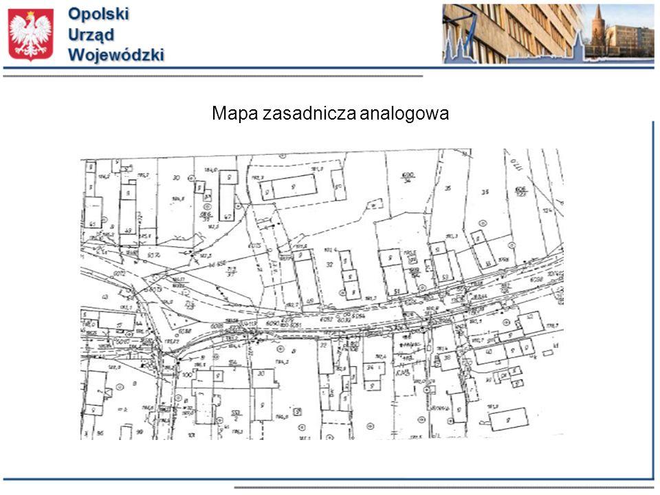 Schemat aplikacyjny GML dla części mapy zasadniczej