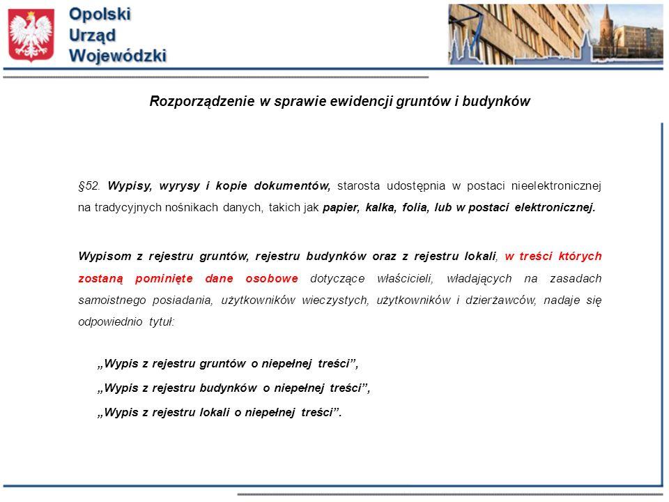 Rozporządzenie w sprawie ewidencji gruntów i budynków §52.