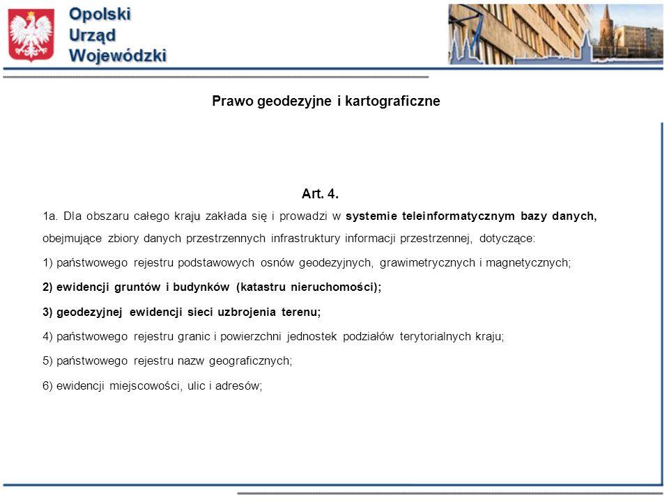 Prawo geodezyjne i kartograficzne Art. 4. ju 1a.