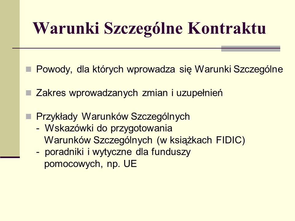 20.1Roszczenia Wykonawcy 20.2Wyznaczenie komisji rozjemstwa w sporach 20.3Niepowodzenie uzgodnienia składu komisji rozjemstwa w sporach 20.4Uzyskanie decyzji komisji rozjemstwa w sporach 20.5Załatwienie polubowne 20.6Arbitraż 20.7Niezastosowanie się do decyzji komisji rozjemstwa w sporach 20.8Zakończenie działania komisji rozjemstwa w sporach FIDIC: Klauzula 20 - ROSZCZENIA, SPORY l ARBITRAŻ