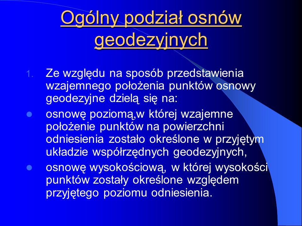 Ogólny podział osnów geodezyjnych 1.