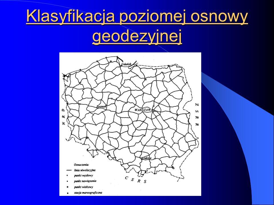 Klasyfikacja poziomej osnowy geodezyjnej