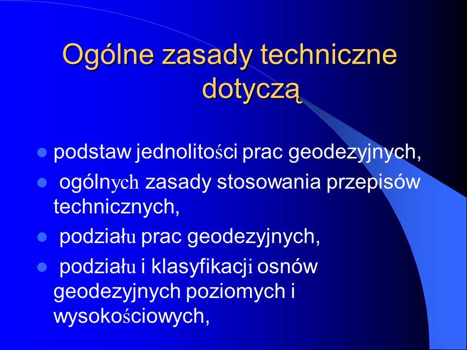 POMIARY SYTUACYJNE I WYSOKOŚCIOWE 1.