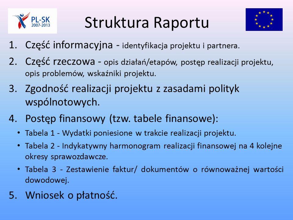 Część informacyjna Najczęstsze błędy: 1.Nakładające się okresy sprawozdawcze: np.