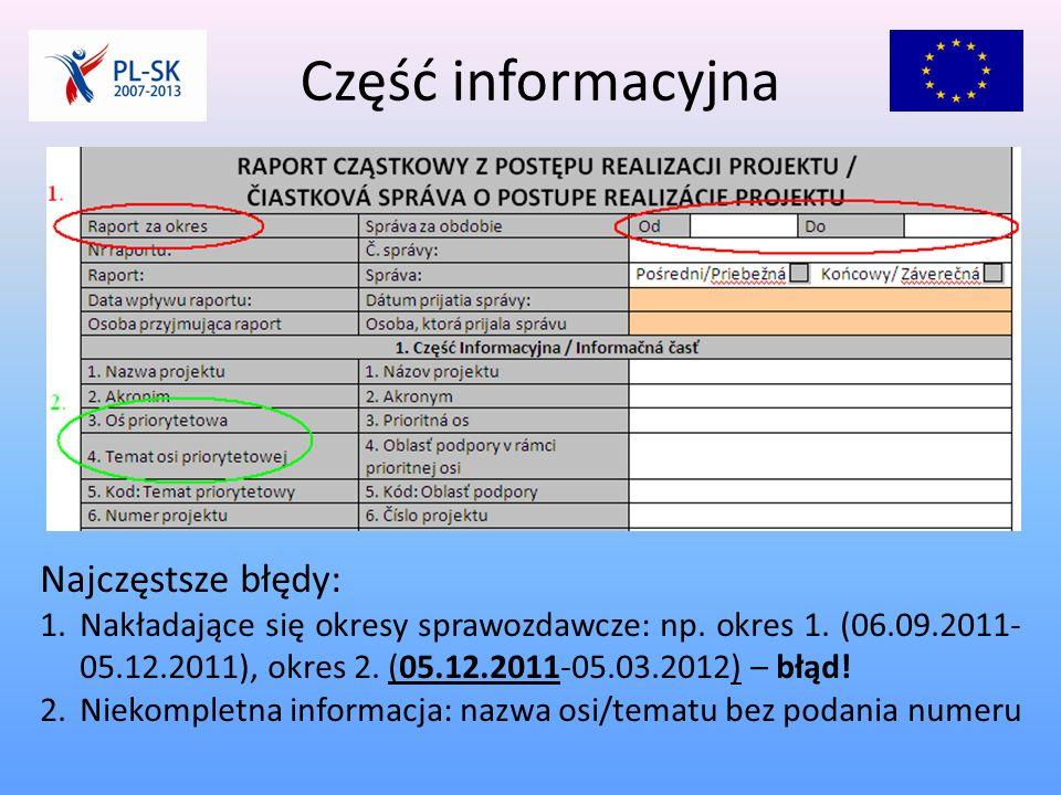 Część informacyjna c.d.