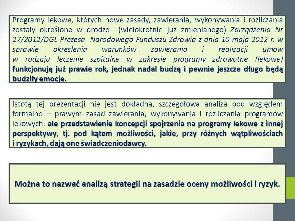 """""""Programy lekowe - czy kolejne problemy na horyzoncie? www.rynekzdrowia.plwww.rynekzdrowia.pl 19 kwietnia 2012 r."""