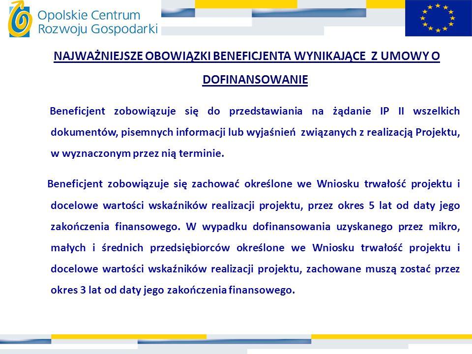 UDOKUMENTOWANIE POSTĘPOWANIA O UDZIELENIU ZAMÓWIENIA * Pisemne protokoły z negocjacji handlowych (podpisane przez obie strony) * Pisemne oferty firm konkurencyjnych w stosunku do wykonawcy/ dostawcy, z którym Beneficjent podpisze umowę * Oświadczenie Beneficjenta uzasadniające dokonany wybór