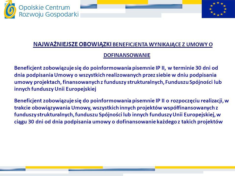 WYMOGI FORMALNE: Beneficjent sporządza wniosek beneficjenta o płatność w GENERATORZE WNIOSKÓW (www.ocrg.opolskie.pl) Oryginał formularza wniosku o płatność powinien być podpisany niebieskim tuszem na ostatniej stronie przez osoby upoważnione do reprezentowania wnioskodawcy oraz opatrzony pieczęcią.