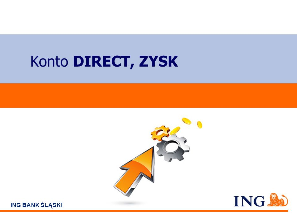 Do not put content on the brand signature area ING BANK ŚLĄSKI Konto DIRECT, ZYSK